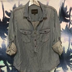 Velvet Heart Stretchy Denim Pullover Shirt Women S